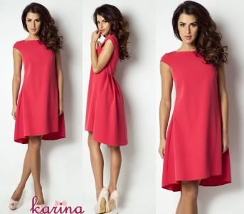 Elegancka Sukienka Asymetryczna Siwiec Swing 36 S 5753066534 Oficjalne Archiwum Allegro Fashion Dresses Short Sleeve Dresses