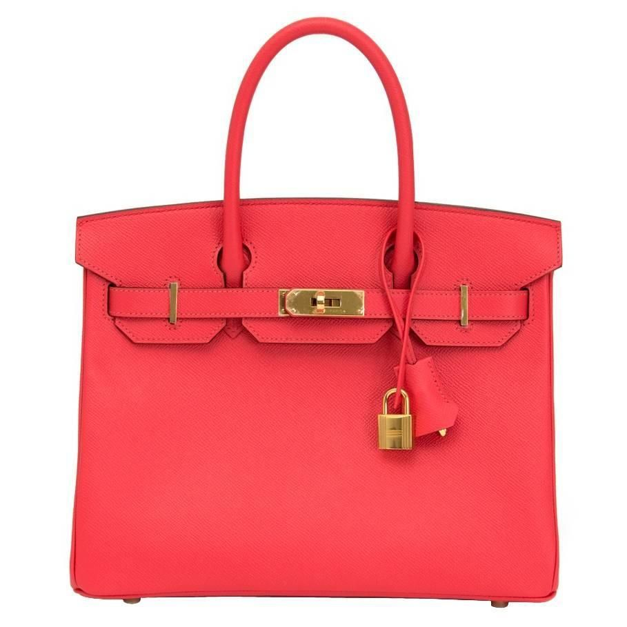 Brand New Hermès Birkin Rose Jaipur 30 Epsom GHW   From a collection of  rare vintage 0ea88b4e69