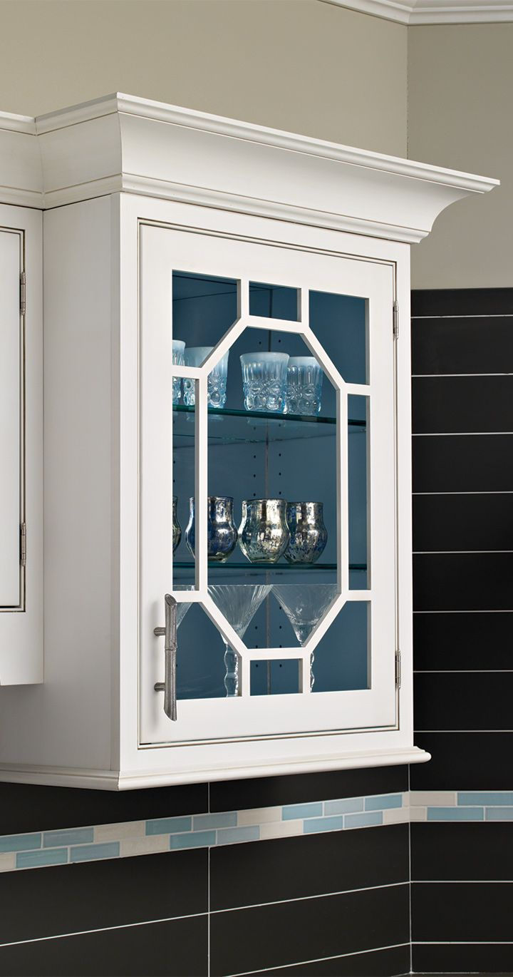 Elegant Octagon Mullions Set This Wall Cabinet Off Plain Fancy Cabinets