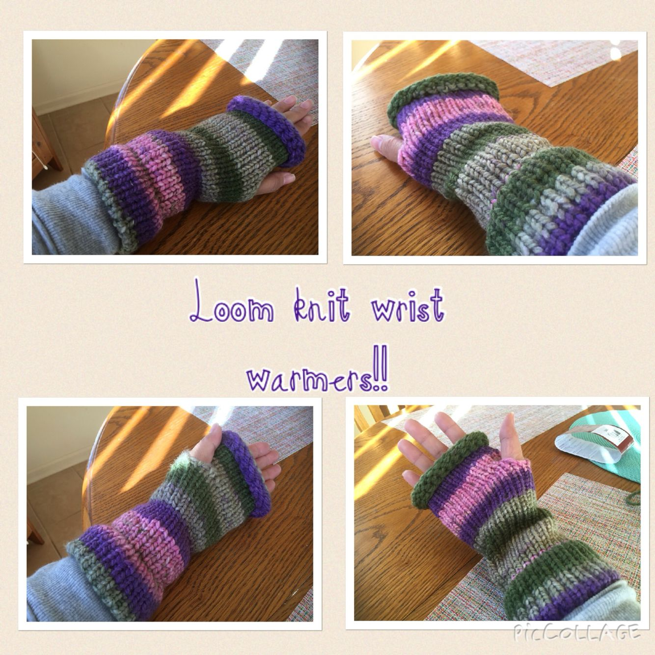 Loom knit wrist warmers!!! Thanks to Tuteate (www.tuteate.com) for ...
