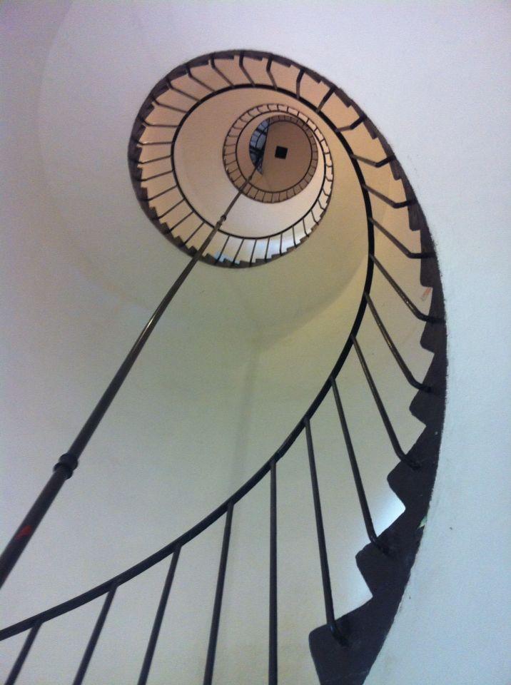La escalera del faro.