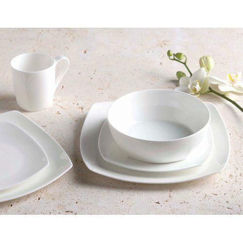 Alex Liddy Ayano Square Dinner Set - White  sc 1 st  Pinterest & Alex Liddy Ayano Square Dinner Set - White | Wedding | Pinterest ...