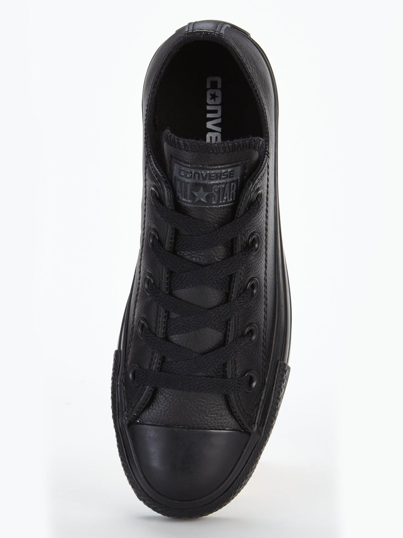 Converse Chuck Taylor All Star Leather Ox Plimsolls, Black