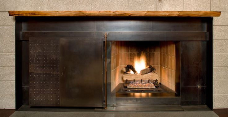 Industrial Fireplace Surround   Google Search