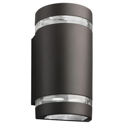 Lithonia Lighting 14 Watt Led Outdoor Wall Pack Cylinder Olcw2 Led 14w 40k Mvolt Ddb M6 The Home De Lithonia Lighting Cylinder Lights Led Outdoor Wall Lights