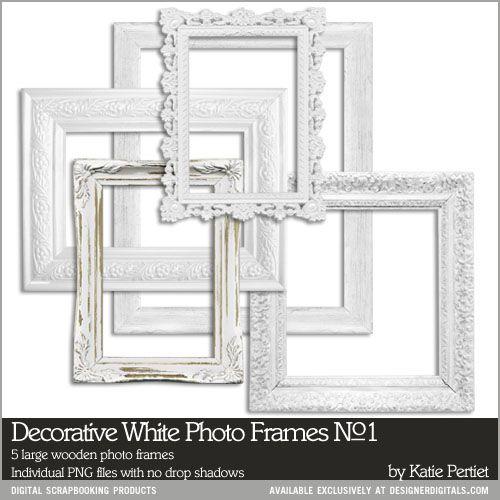 Decorative White Photo Frames No. 01 | HomeDecor | Pinterest | White ...