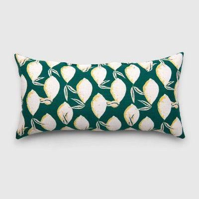 Oversize Lumbar Lemons Outdoor Pillow Jade Opalhouse Outdoor