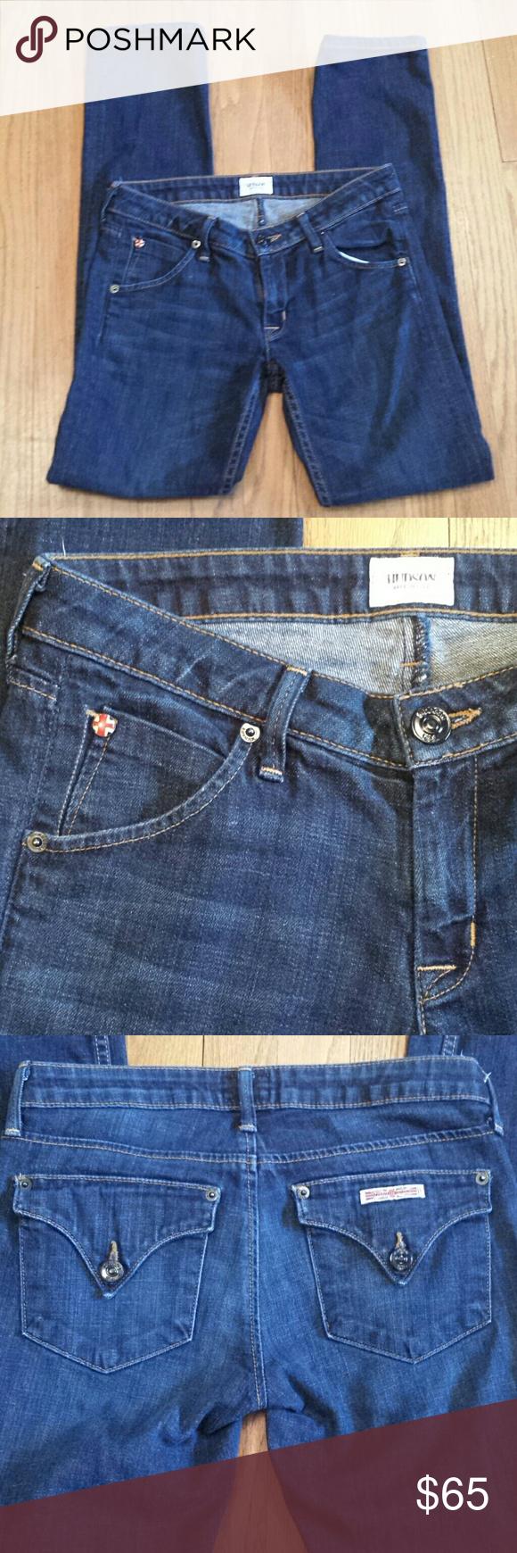 Hudson Jeans Size 25 Hudson Carly Flap Straight Jeans!  Great condition! Hudson Jeans Jeans Straight Leg