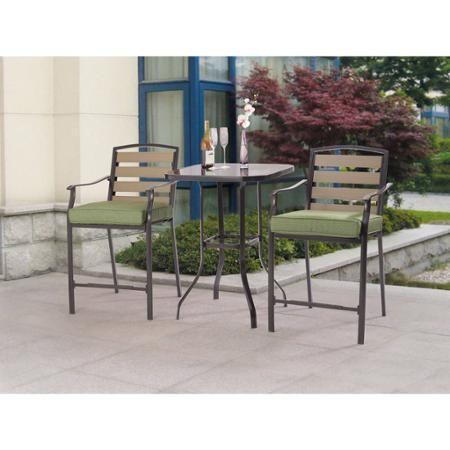 Mainstays Bryant Meadows 3 Piece Bar Set Walmart Com Outdoor