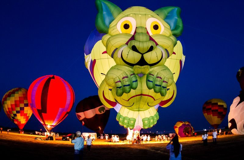 The Sky's The Limit Hot Air Balloon Festival in Gainesville Texas
