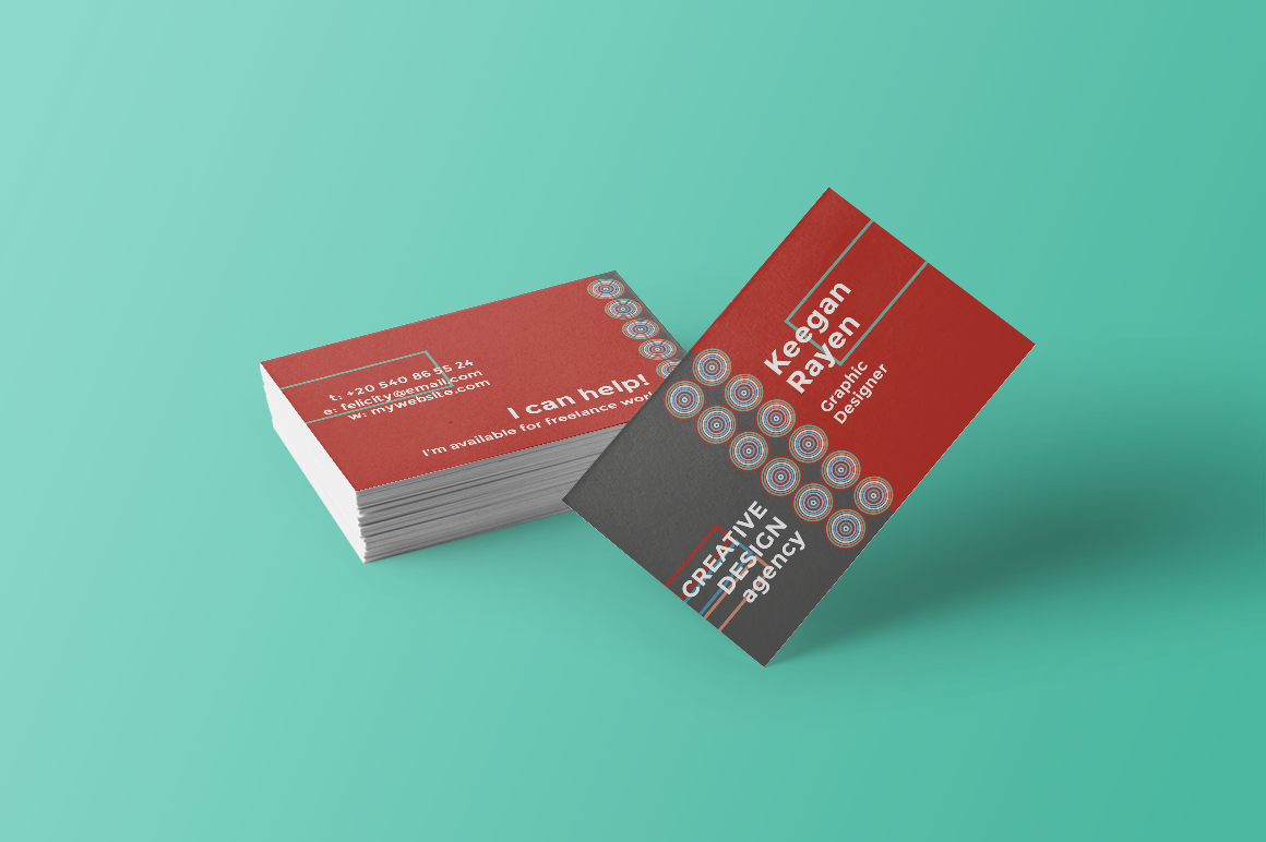creative design agency business card material brand brand identity