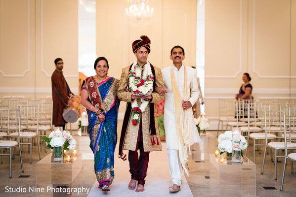 Groom making his entrance http://www.maharaniweddings.com/gallery/photo/94281