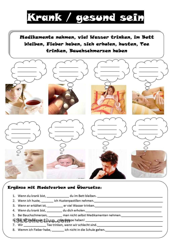 krank gesund deutsch lernen deutsch ben und deutsch unterricht. Black Bedroom Furniture Sets. Home Design Ideas