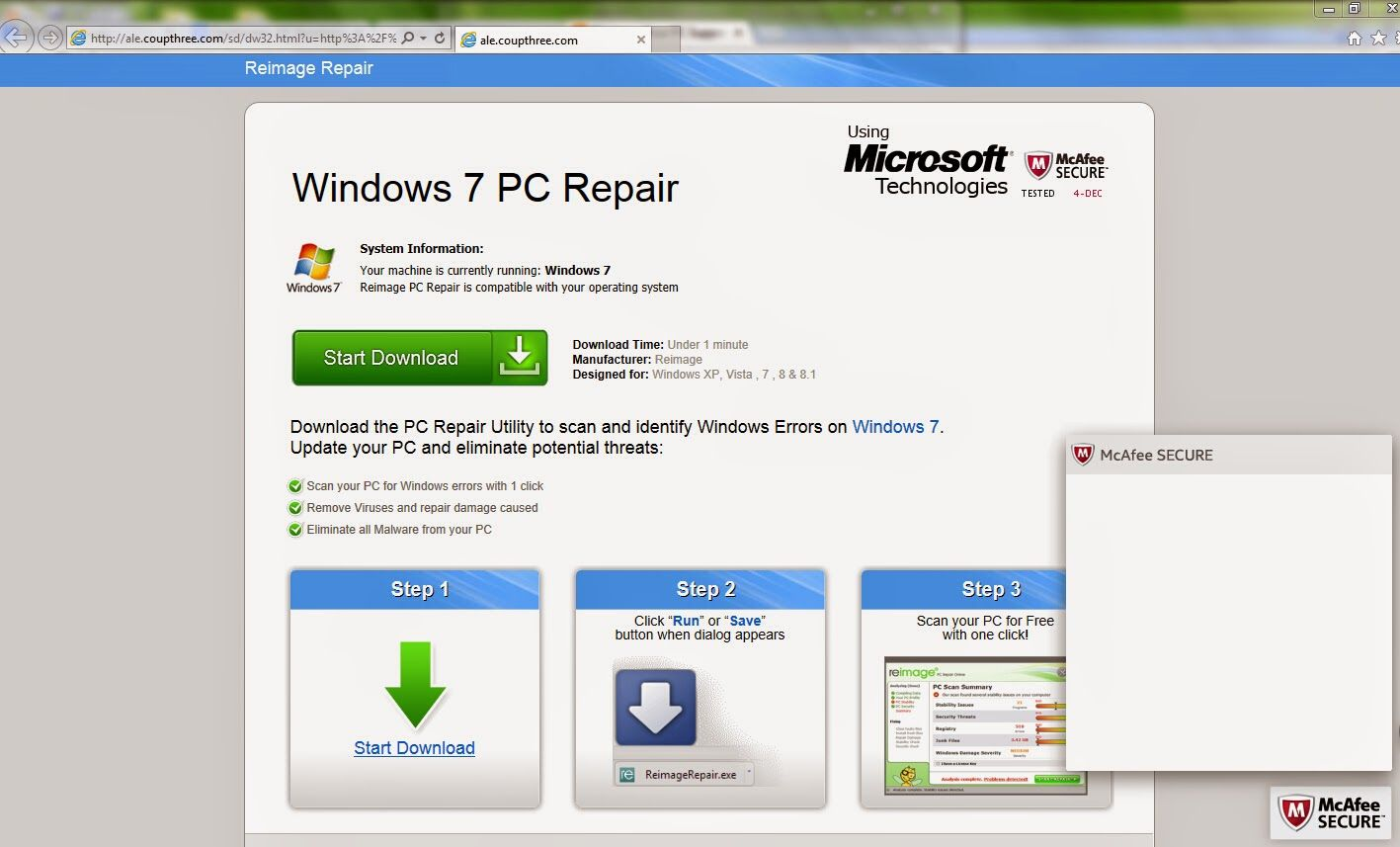 Your PC Support: Guide to Remove ale.coupthree.com - Stop ale.