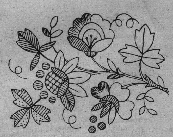 Вышивка белой гладью рисунки