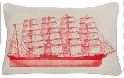 Outdoor Tall Ship Pillow $88.00