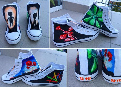 Depeche Mode sneakers. OMG! OMG! Look at these @Linda