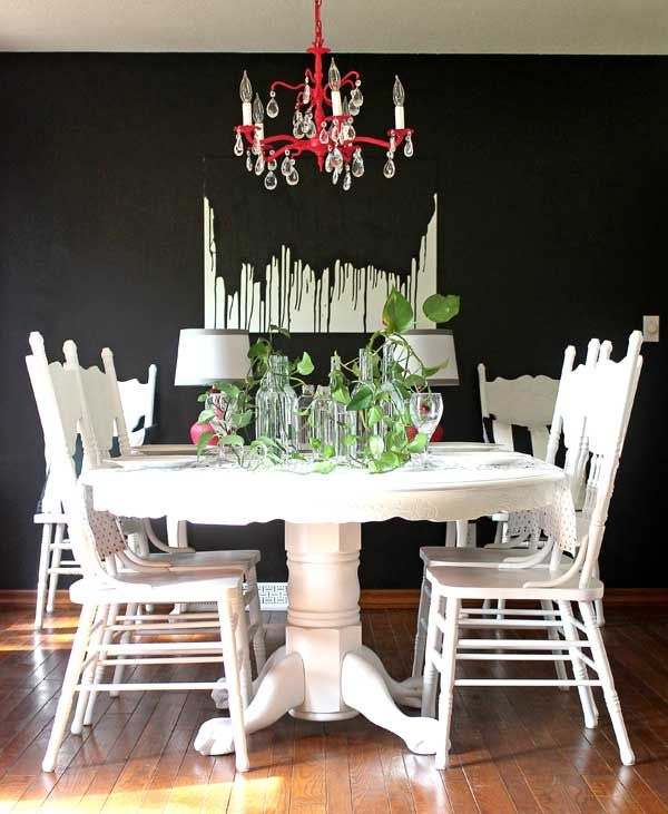 Dining Room With Edgy Elegance