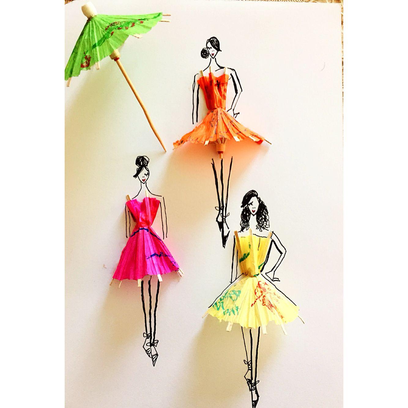 Cocktail umbrella illustration by sara japanwalla #sarajaps