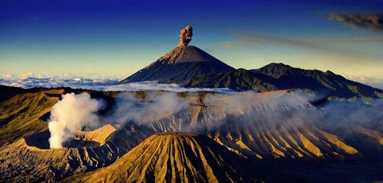 Pemandangan Gunung Bromo Jawa Timur Indonesia Taman Nasional Gunung Berapi