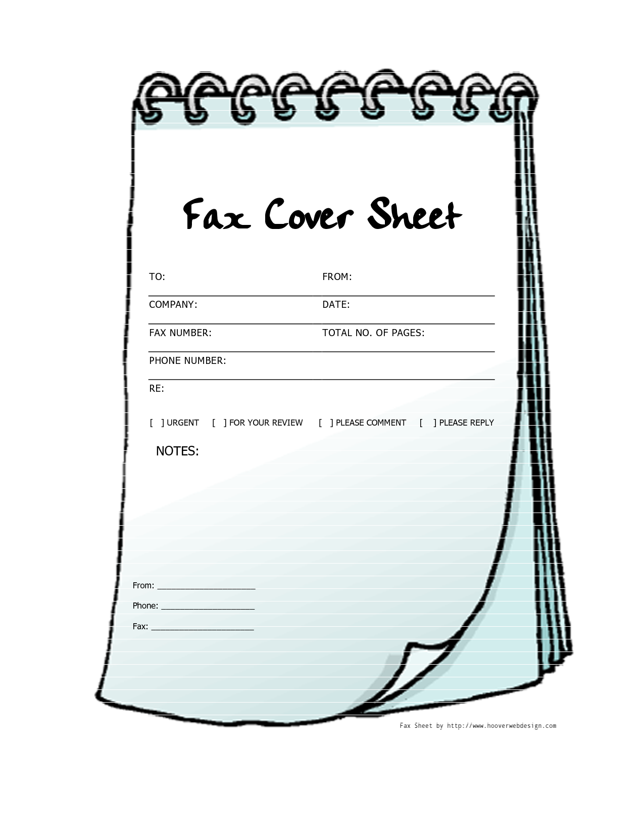 Free Printable Fax Cover Sheets Free Printable Fax Cover Sheet Template Notebook