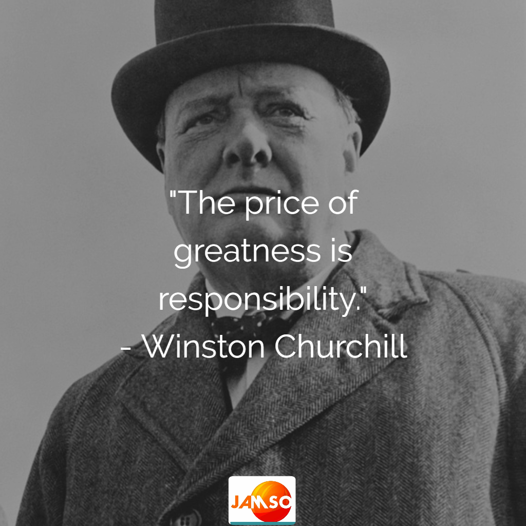 """""""The price of greatness is responsibility."""" - Winston Churchill  #quotes"""