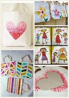 Les jolies idées des autres #37 : spécial fête des mères, sac décoré
