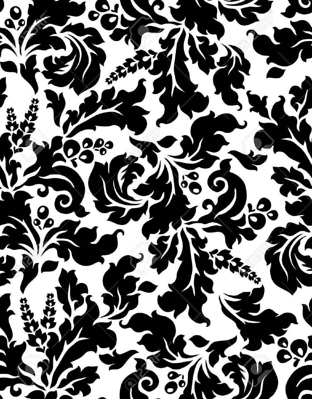 Baroque pattern Damask pattern, Baroque pattern