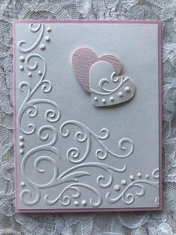 Handgemachte Grußkarten; Satz von 2 Liebeskarten Liebesnoten Valentinsgrüße R