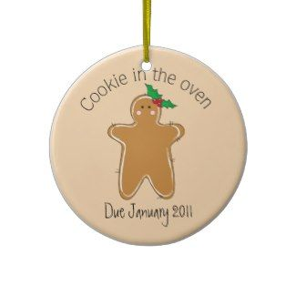 Cookie in the Oven? Here's the perfect ornament for the expectant ...
