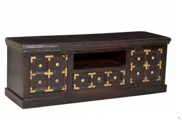 Schlafzimmer kolonial ~ Kolonial möbel lowboard cm massiv tv schrank