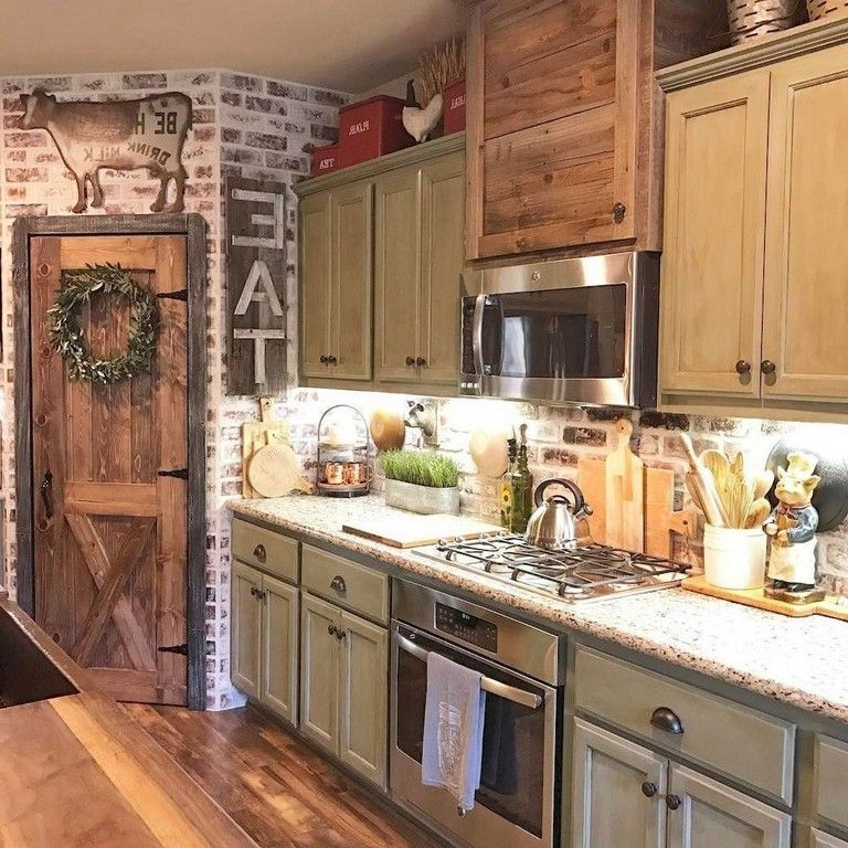 116 stunning modern rustic farmhouse kitchen cabinets ideas kitchen farmhouse kitchen on farmhouse kitchen cabinets id=94319