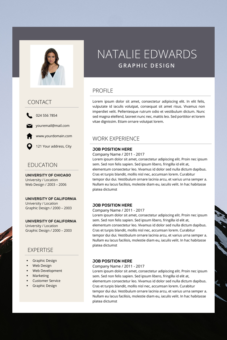 Creative Resume Template Cv Template For Ms Word And Pages Professional Resume Modern Resume Design Resume Instant Download Teacher Resume Template Resume Template Creative Resume Templates
