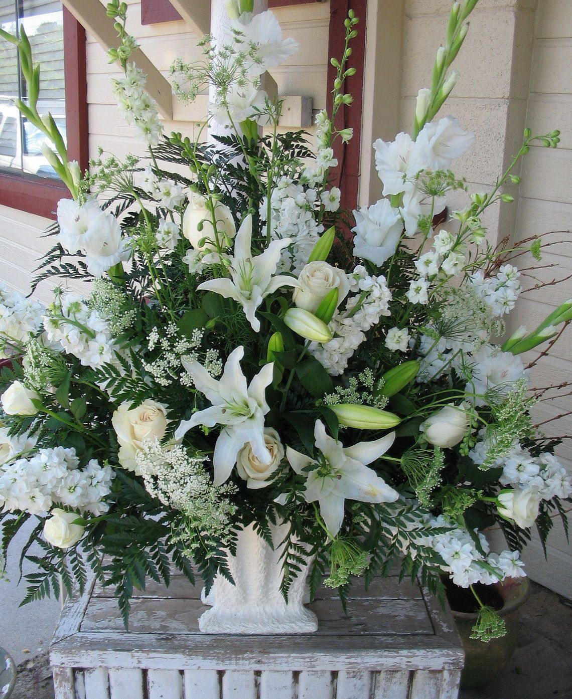 Church Altar Wedding Flower Arrangements: CHURCH WEDDING ALTER FLOOWERS