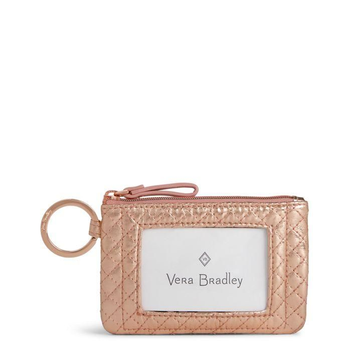 32314b177 Vera Bradley - Iconic Zip ID Case - Rose Gold Shimmer in 2018 | back ...