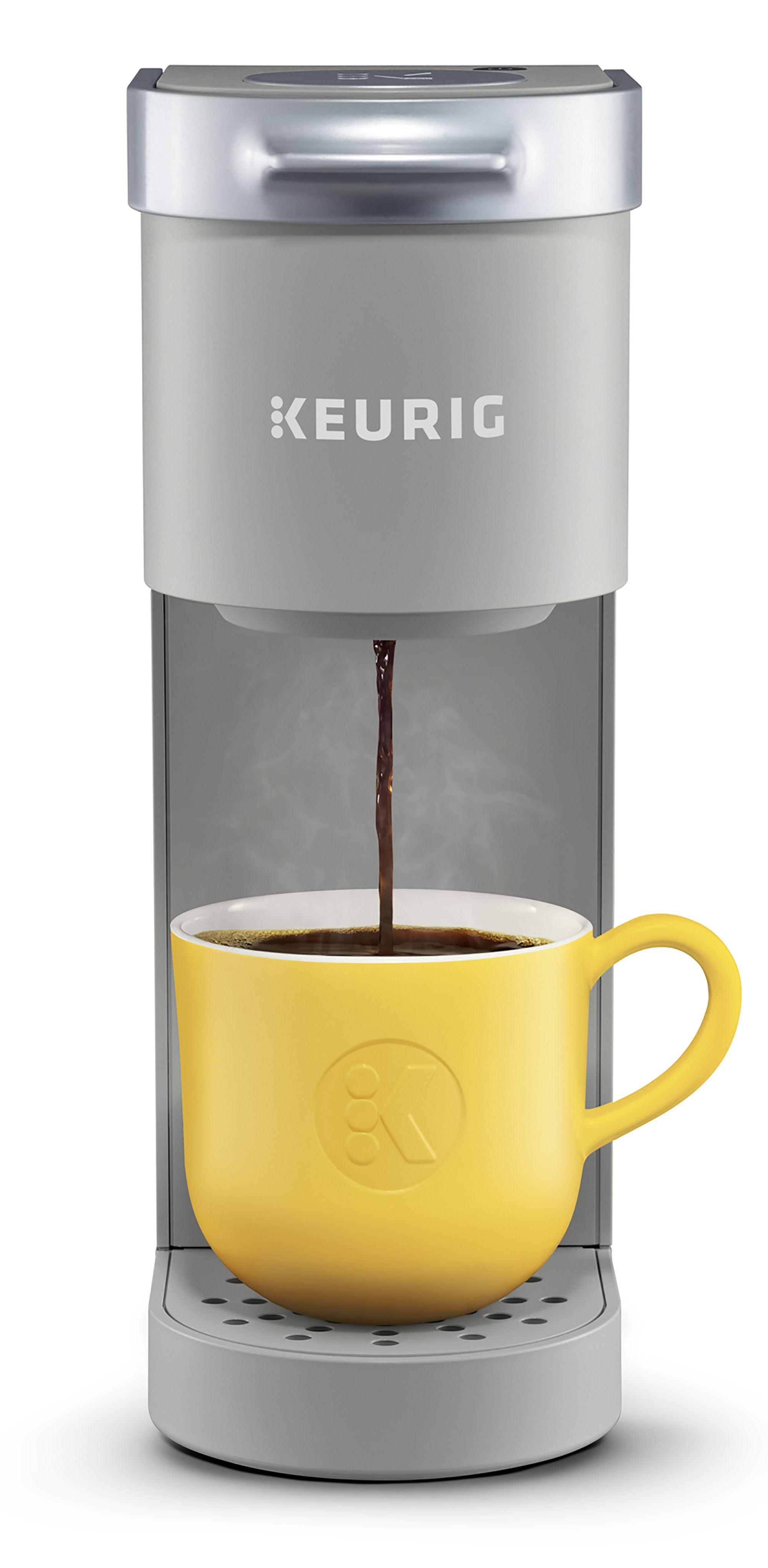 Keurig K Mini Single Serve K Cup Pod Coffee Maker 6 To 12 Oz Brew Sizes Studio Gray Walmart Com In 2020 Best Coffee Maker Keurig Coffee Makers Coffee Maker