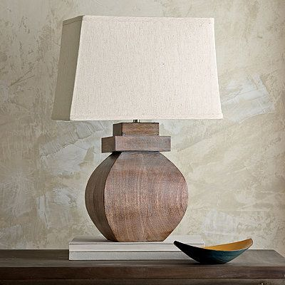 Crafted of solid mango wood and inspired by the minimalist beauty of asian design comes with a slubbed cotton lamp shade the company store