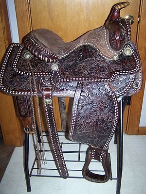 Old Antique Vintage Tex Tan Imperial Western Leather Co Buck