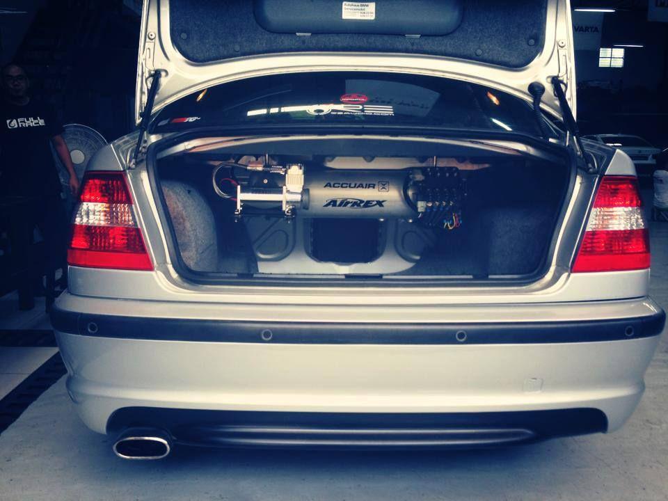BMW E46 air suspension setup! #carpornracing #airsuspension