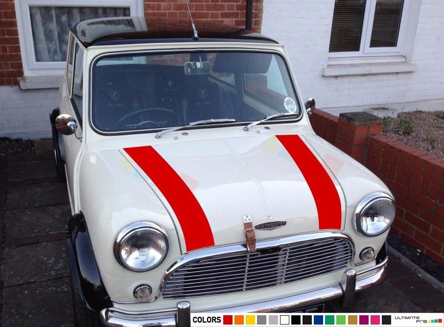 Details About Sticker Decal Light Stripe For Classic Mini Cooper