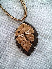 """Collar Hojas con Liblula en Ocres (""""creativARTE: Detalles en plastilina"""") Tags: handmade fimo clay mano detalles hecho polymer plastilina creativarte"""