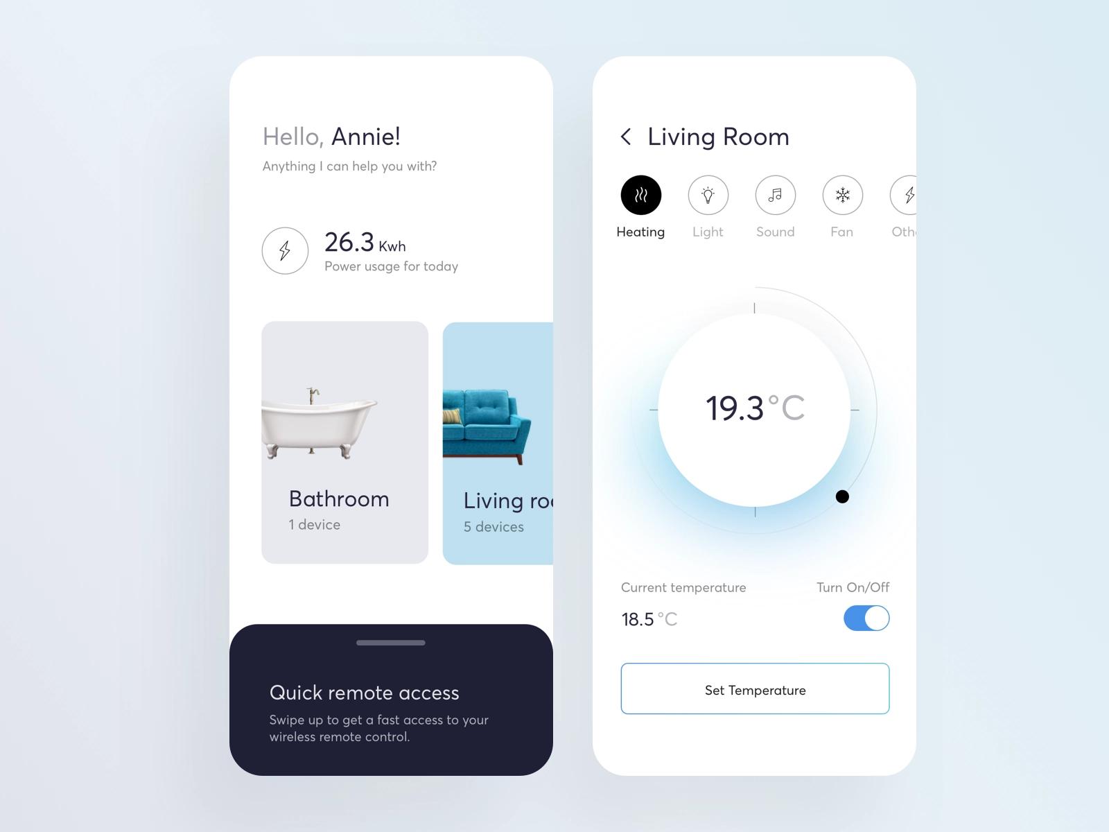 Smart Home App App Design Mobile App Design Smart Home