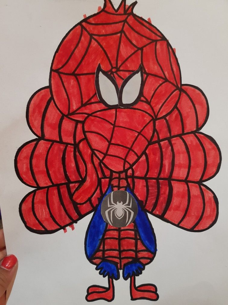 Spider-Man Turkey disguise kindergarten project -   12 disguise a turkey project boy spiderman ideas