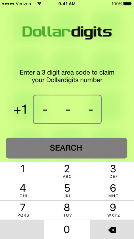 Dollar Digits burner number app is easy & free-keep your