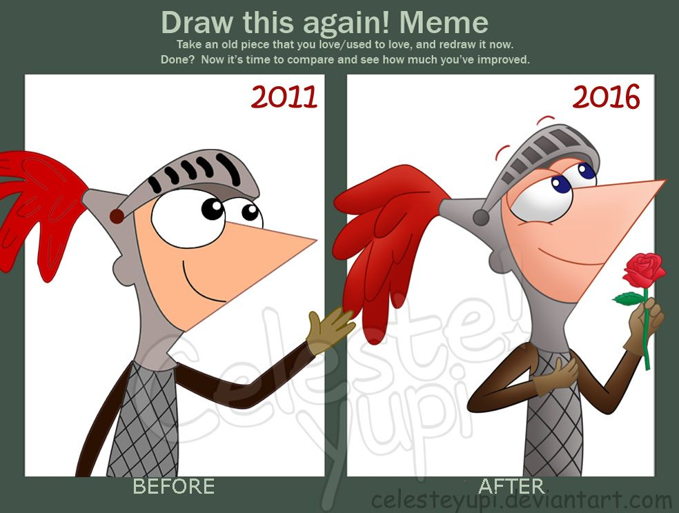 Draw This Again Meme Phineas Knight By Celesteyupi Phineas And