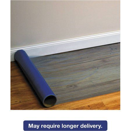 ES Robbins Roll Guard Temporary Floor Protection Film for Hard Floors, 36 inch x 2400 inch, Blue
