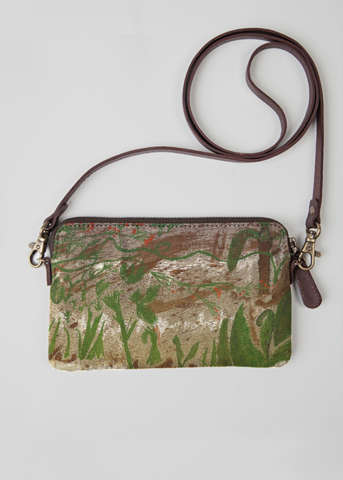 VIDA Leather Statement Clutch - Green Paris Purse by VIDA uuV6J1pI