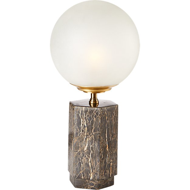 Charade Marble Globe Table Lamp Cb2 Table Lamp Lamp Modern Table Lamp