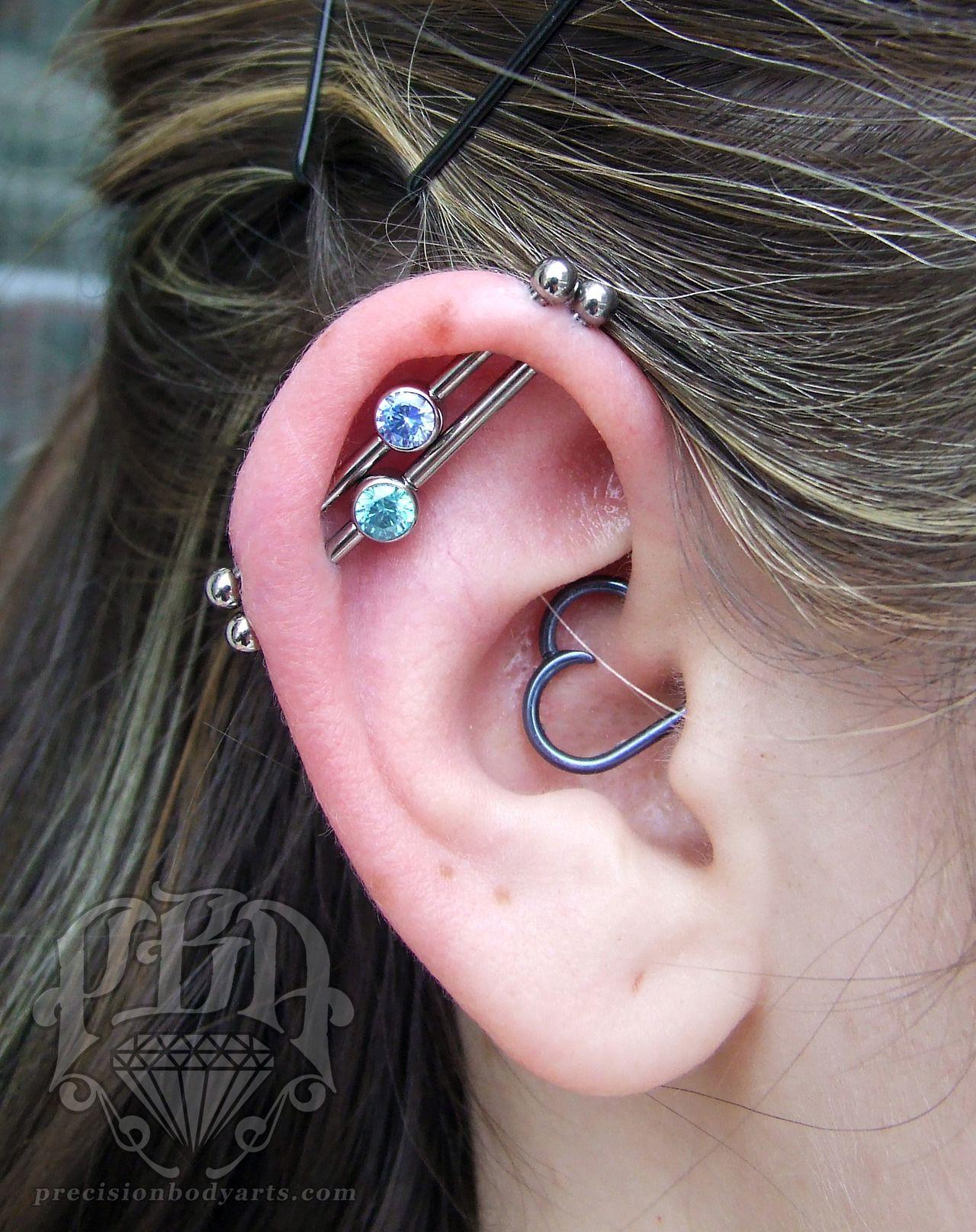Ryanpba Double Industrial Piercing By Ryan Body Piercing By
