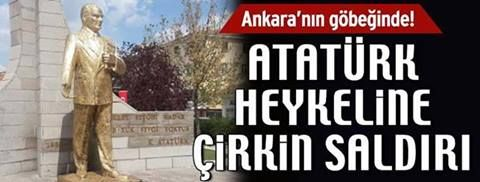 Devriye Haber : Ankara'nın Gölbaşı ilçesinde  Atatürk Heykelini Ge...
